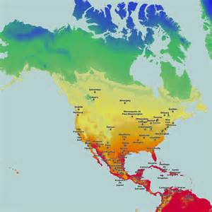thematic maps and city maps temperature