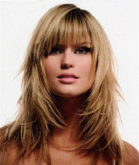 hairstyles with bangs on pinterest long layered haircuts with bangs long wavy layered
