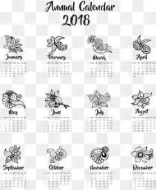 Calendar 2018 Template Png Abstract Print 2018 Calendar Template Vector Material