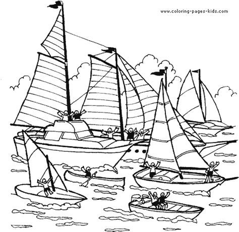 printable sports coloring book - Boat coloring page Coloring pages ...
