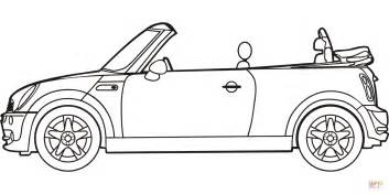 mini car coloring page mini cooper convertible coloring page free printable