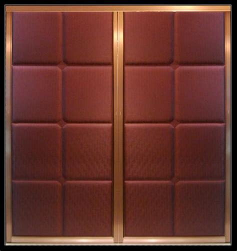 decorative sliding closet doors aluminum frame leather upholstered doors for wardrobe