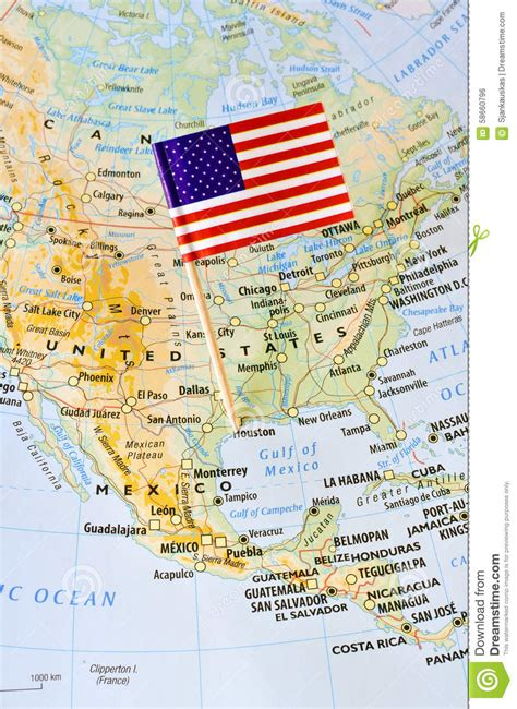 united states pin map unites states of america flag pin on map stock photo