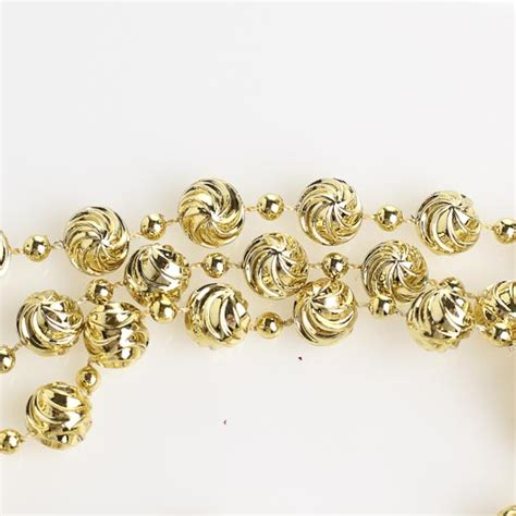 10mm metallic gold swirl bead garland 9 feet christmas