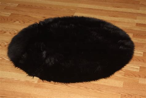 black fur rugs 3 premium black fur rug non slip washable great for