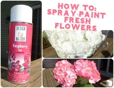 How To Spray Paint Hydrangeas Easy Diy Weddingbee Photo