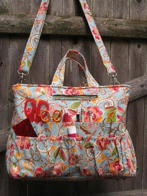 pattern for tote bag with pockets clever tote pattern boasts over 40 pockets of varying