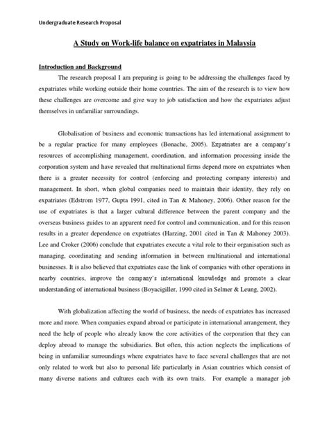 undergraduate business dissertation exles a sle research for undergraduate students