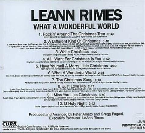 leann rimes what a wonderful world us promo cd album cdlp