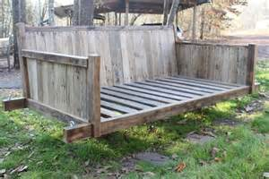 How To Build Deck Benches Diy Pallet Bed Swing 101 Pallets