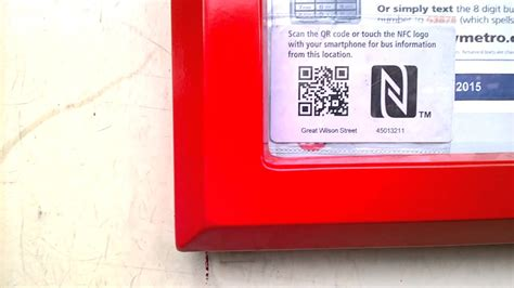 Ripped Code 55071 find actual time of next with qr codes and nfc tags at west stops