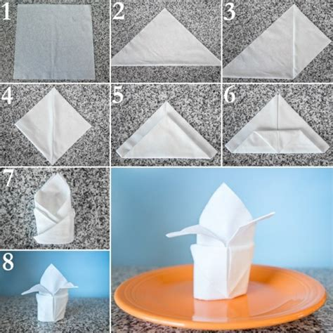 Paper Napkin Folding Swan - paper napkin folding festive table