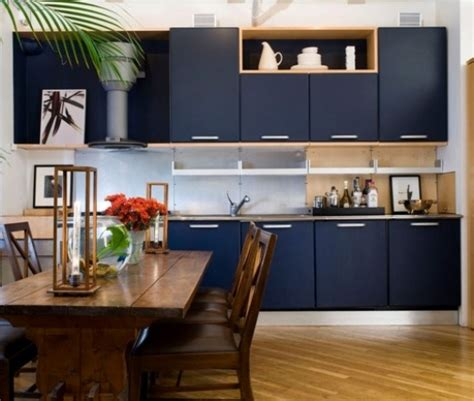 navy blue kitchen cabinets home