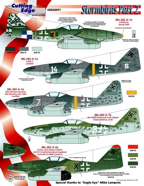 libro the luftwaffe in colour cutting edge 1 32 me 262 decal preview oct 5 2005