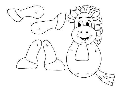 puppet template paper bag puppet coloring pages
