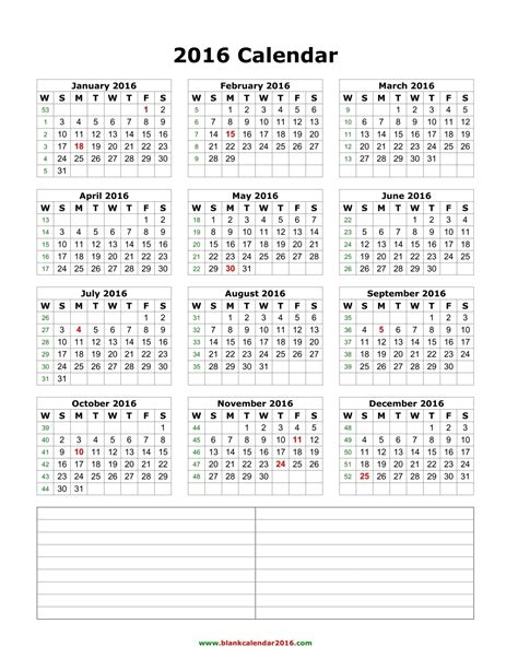 calendar template with notes 2016 calendar with notes section calendar template 2017