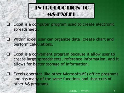 microsoft excel tutorial in ppt ms excel ppt presentation