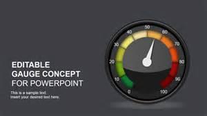 editable gauge concept for powerpoint slidemodel