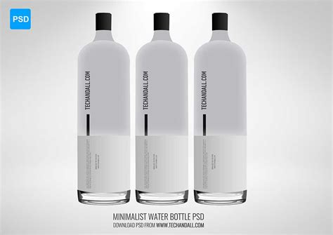 Minimalist Water Bottle Mockup Welcome To Tech All Bottle Design Template