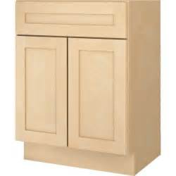 "Bathroom Vanity Base Cabinet Natural Maple Shaker 24"" Wide"