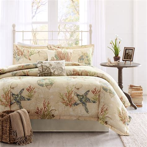 beach comforter set queen coral bedding king harbor house summer beach 4 piece