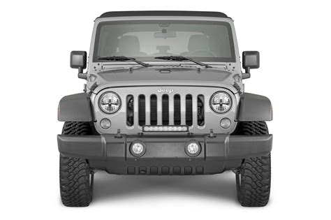 jeep jk grill light bar quadratec j3 led 17 quot light bar with grille mount brackets
