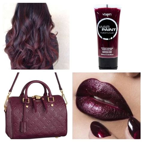mulberry hair color hue hair color and burgundy on