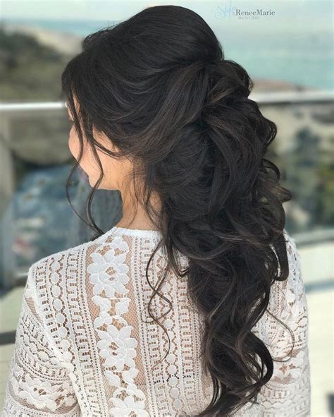 wedding hairstyles half up half and to the side half up half wedding hairstyle get inspired by