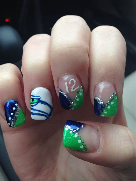eyeliner tattoo kennewick wa seahawk nails i m definitely ready for the super bowl