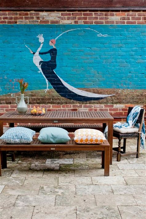 outdoor murals for walls 30 awesome eclectic outdoor design ideas