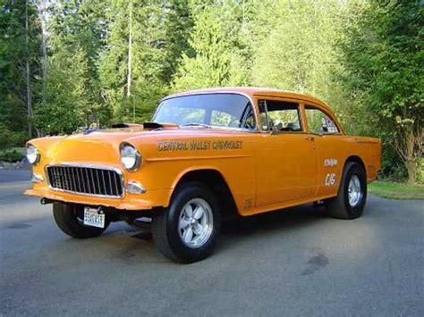 Sale Wheels 55 Chevy Bel Air Gasser Orange Mtf36 gasser madness brad barrie s 55 chevy gasser