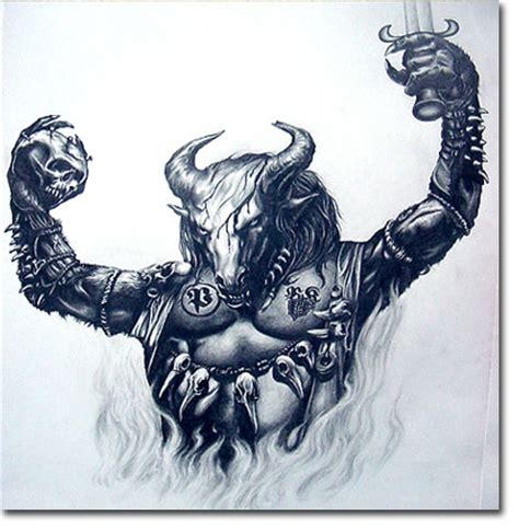 minotaur tattoo ss graphics various designs