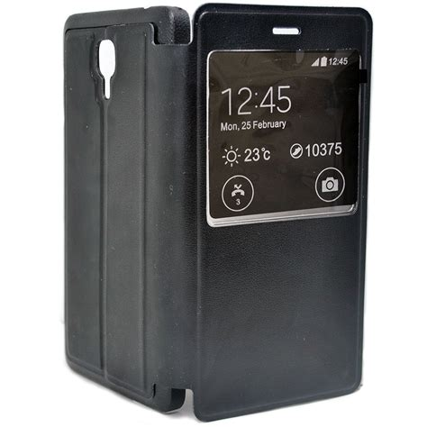 Taff Leather Flip Single Window Xiaomi Mi4 taff leather flip single window for xiaomi mi4 black jakartanotebook