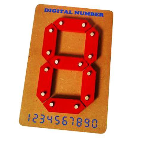 Angka Digital 2 Digit angka digital 1 digit mainan kayu