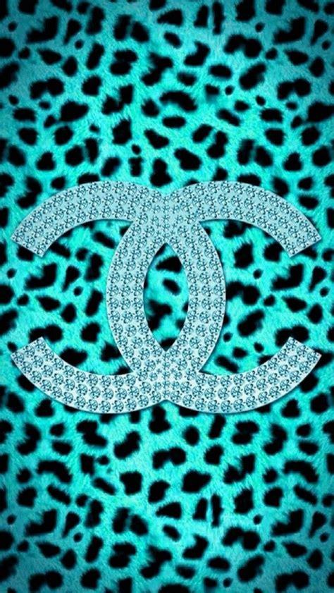 duitang chanel blue leopard skin wallpaper chanel