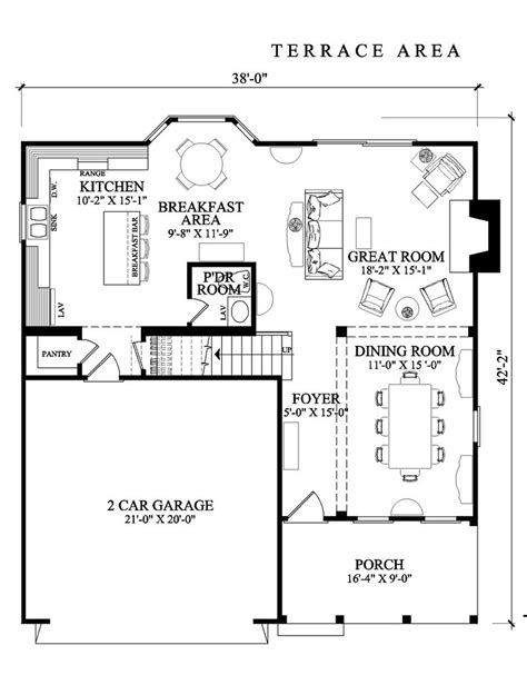 small house big garage plans amazing square house plans large open terrace two cars