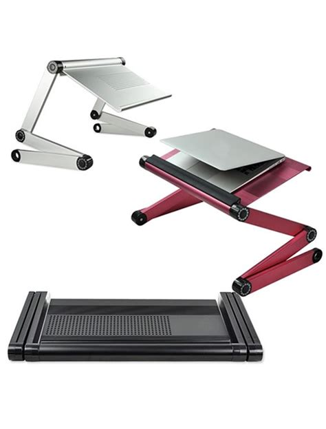 Adjustable Folding Laptop Netbook Computer Office Table Desk Laptop Tray