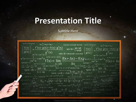 20247 Science Chalkboard Powerpoint Template 1 Free Powerpoint Templates Chalkboard Powerpoint Templates Free