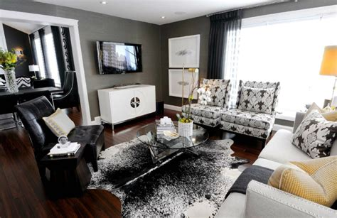 black n white living room how to decorate in black and white hotpads