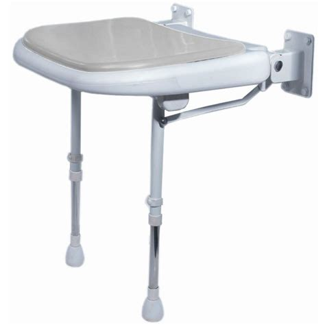 wall mounted padded shower bench akw wall mounted fold up padded shower seat color choice