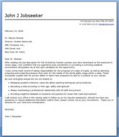 Cover Letter Example Of Teacher Substitute Teacher Cover Letter Examples Resume Downloads