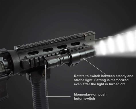 Led Flash Light Strobo h40w s strobe tactical flashlight