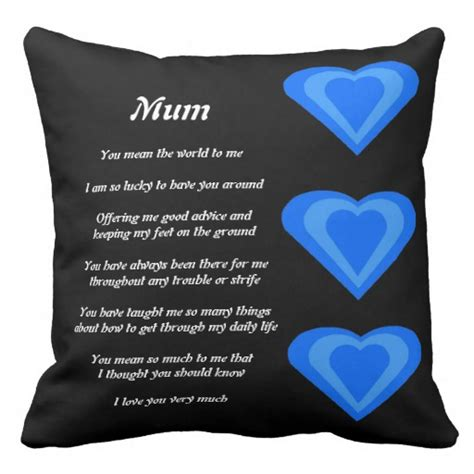 Poems About Pillows by S Poem Pillow Zazzle