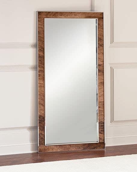 bernhardt jody hairhide trim floor mirror neiman marcus