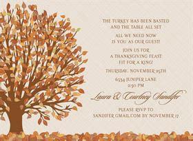 thanksgiving mail for wedding invitation thanksgiving invitations