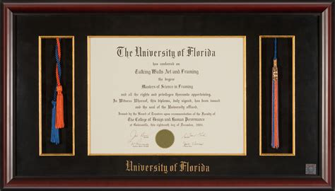 Uf Time Mba Business Major by Of Florida Diploma Frame Honor Cords And Tassel