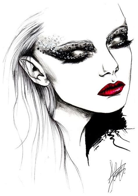 fashion illustration drawing faces fashion sketches and model on