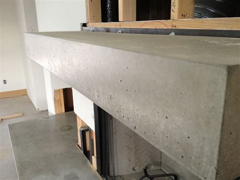 concrete fireplace hearth and mantel concrete planters
