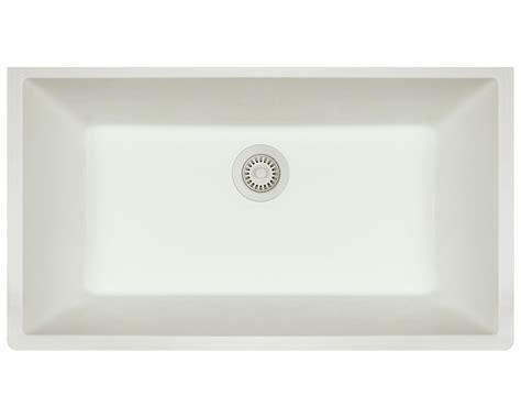 848 white single bowl undermount trugranite sink
