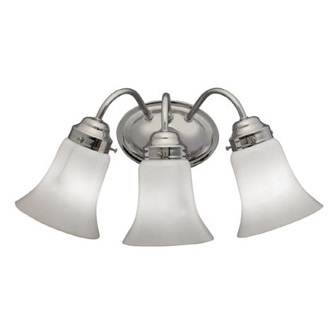 bathroom vanity lights chrome shop portfolio 3 light chrome bathroom vanity light at